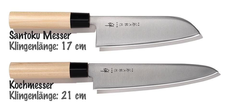 Vergleich zwischen Santoku Messer und Kochmesser