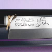 Messer Gravur (Schriftzug \