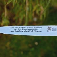 Messer gravieren mit der Schriftart: \